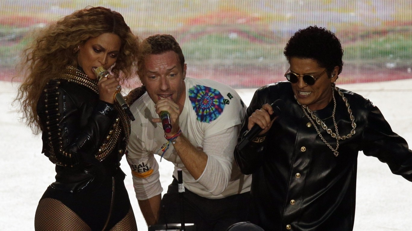 Coldplay eclipsed by Beyoncé, Bruno Mars in Super Bowl halftime show